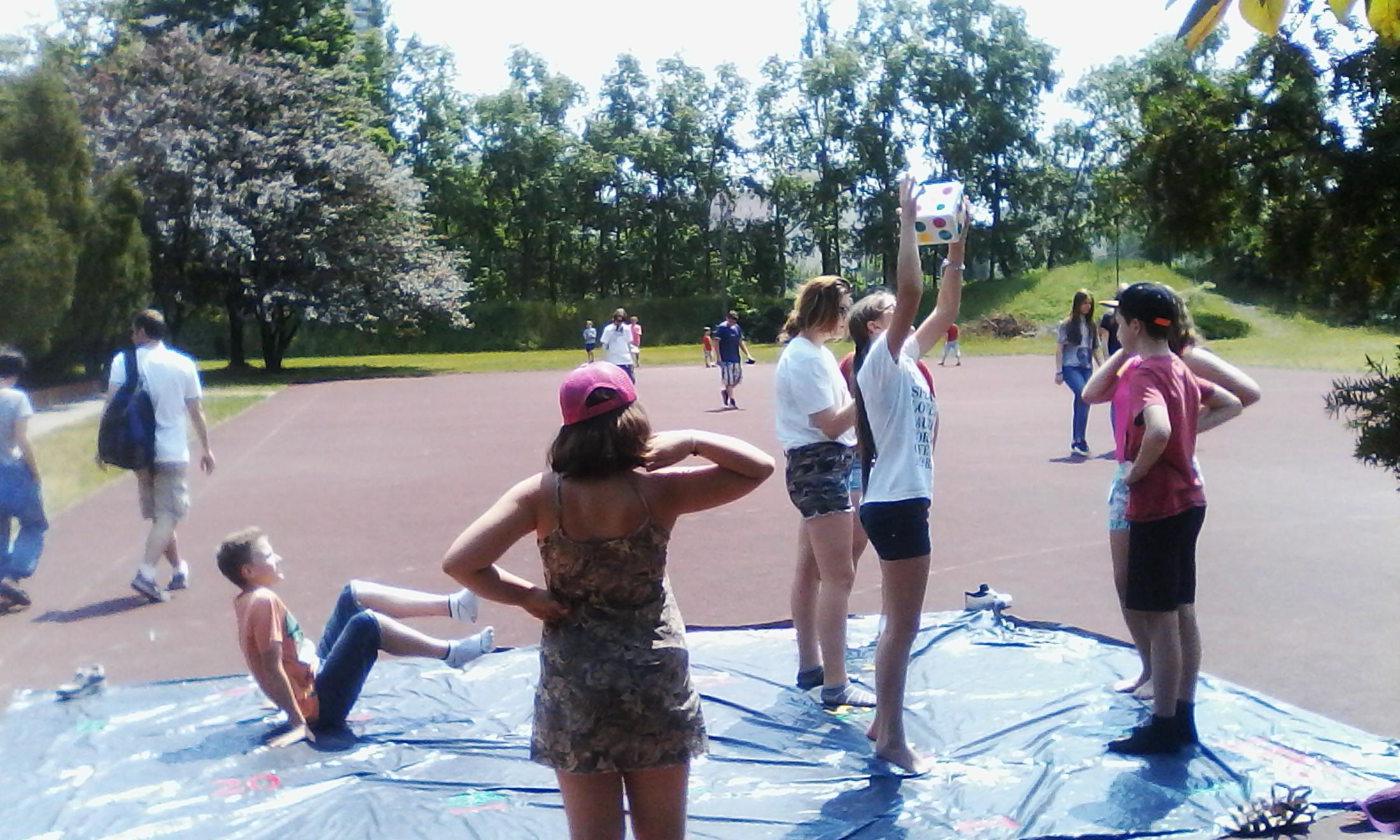 Przygotowana improwizacja na Pikniku Szkolnym:)